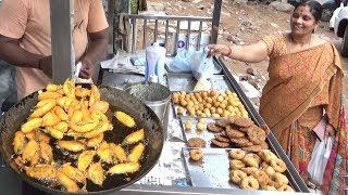 మిర్చి బజ్జీ హోటల్లో టేస్ట్ ఇంట్లో రావాలంటే ఇలా చేసుకోండి | Mirchi Bajji Recipe | Famous Street Food