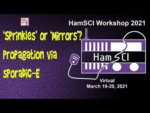 HamSci 2021: 'Sprinkles' or 'Mirrors  Exploring the true nature of VHF propagation via Sporadic E
