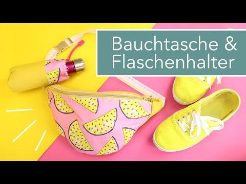 #BauchtascheBabsi Sommer-Edition mit Flaschenhalter und Rückfach nähen