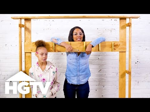 How to Build an Entryway Storage Rack - HGTV