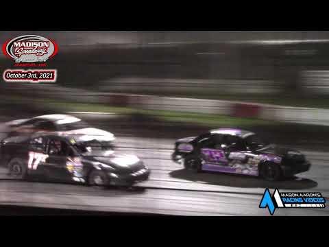 Madison Speedway WISSOTA Hornet A-Main (Lou's Madtown Showdown Night #2) (10/3/21) - dirt track racing video image