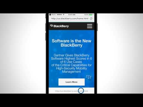 BlackBerry Access Secure Browser Tutorial (iOS)