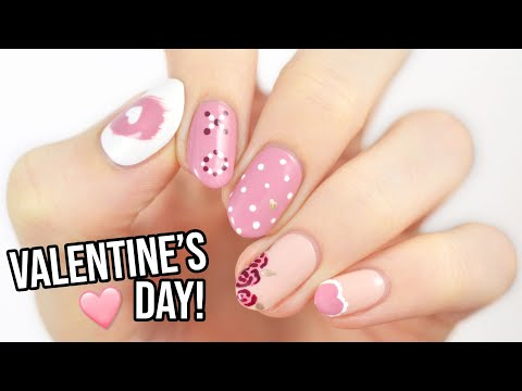 Valentine's Day Nail Art For Beginners Using A TOOTHPICK!