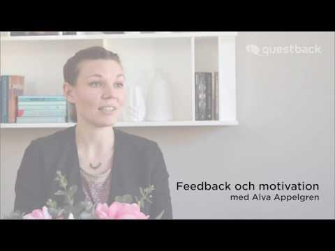 Feedback och motivation med Alva Appelgren