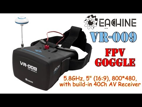 "Eachine VR-009 5"" FPV Goggles with Built-in 40Ch 5.8GHz A/V automatic search receiver - UC8Pp5wqa4mPIdtAYkGH2Pzw"