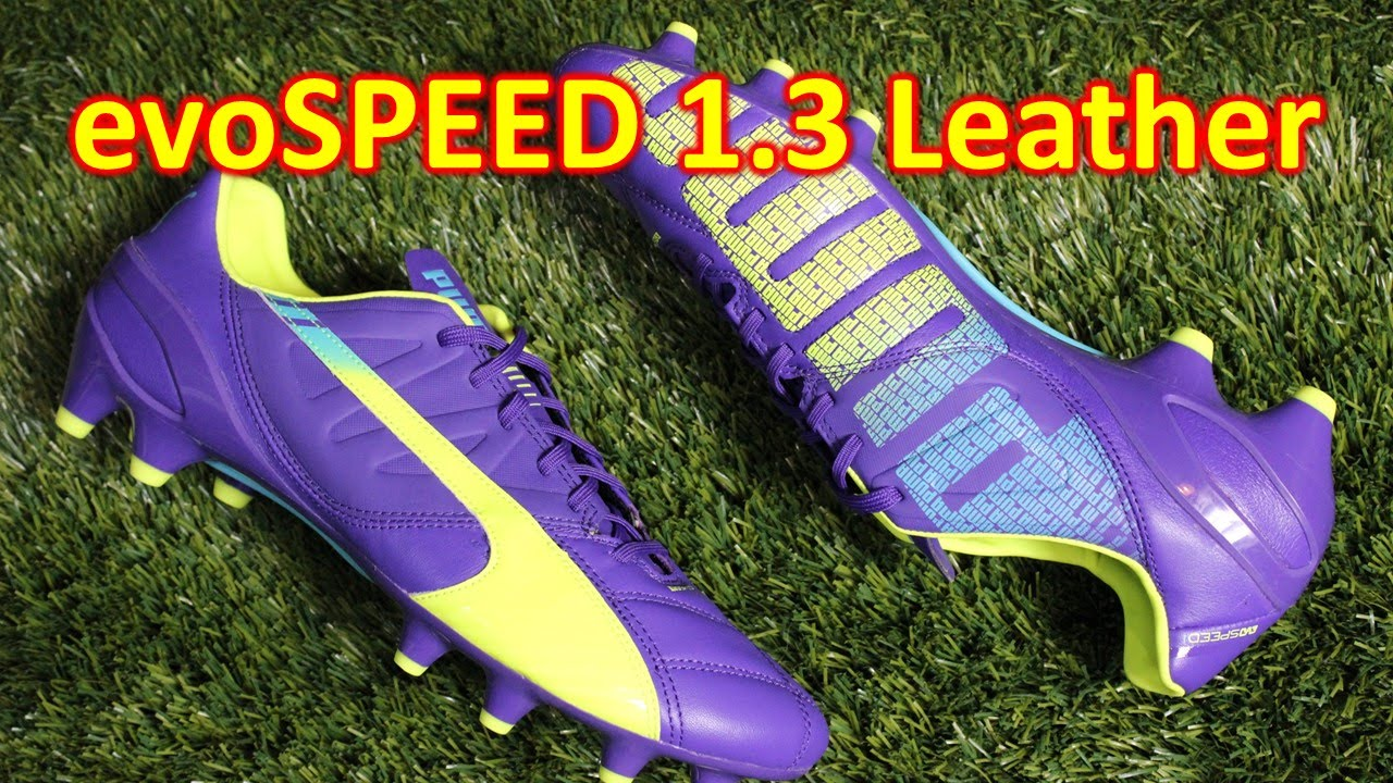 Puma evoSPEED 1.3 Leather Prism Violet Fluo Yellow - Unboxing + On Feet  f4b4e634df