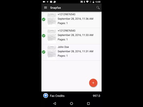 Snapfax Android Preview