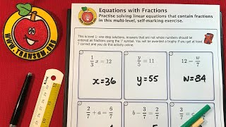Equations with Fractions video