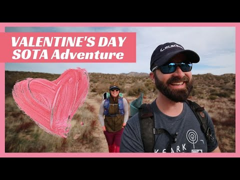 Valentines Day SOTA with the YL