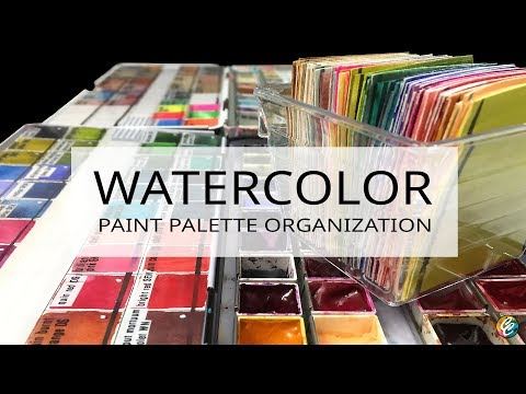 how to organize your watercolor paint palette + reference tool