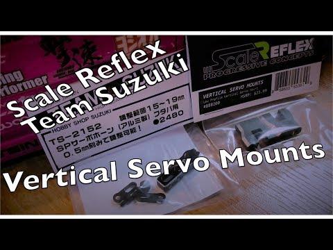 Scale Reflex Vertical Servo Mount, Team Suzuki Servo Horn Install and Review - UCTa02ZJeR5PwNZK5Ls3EQGQ