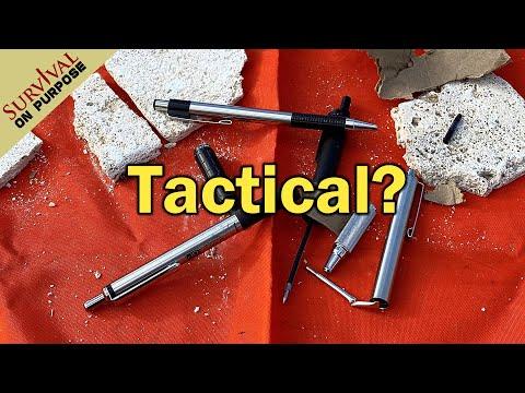 Budget Tactical Pens - Zebra Pens Torture Test