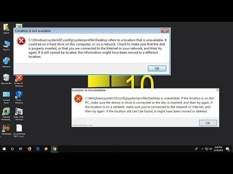 How to Fix All Error of Desktop Location is Unavailable in Windows (100% Works)