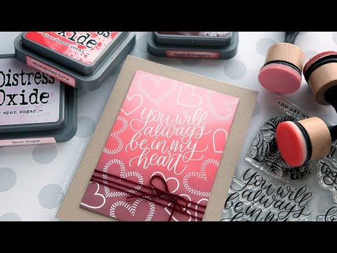GORGEOUS Ink Blending for Valentine's Day! (February 2019 Card Kit)