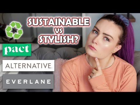 Video: Trying Sustainable Clothing Brands (try-on haul/review)