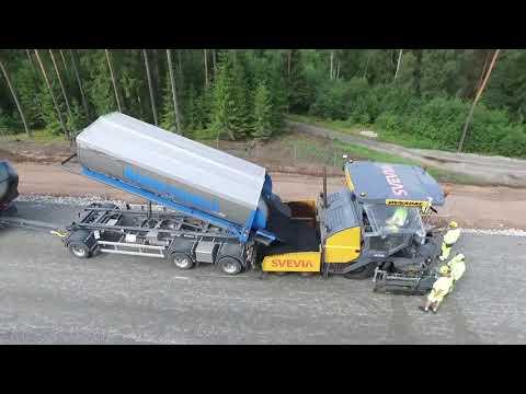 Klimatsmart beläggningsarbete på E4 Ljungby-Toftanäs