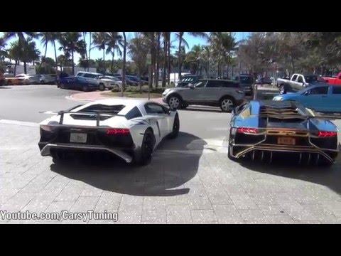 Supercars in Miami Vol 2 - Aventador SV, F12, 458, 570S and more!