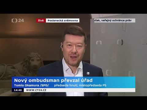 Tomio Okamura: Takáč versus Okamura :-) na ČT24 na téma nový ombudsman.