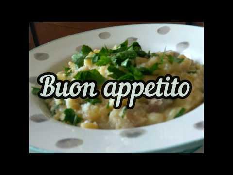 Картофи с паста ( pasta e patate ). Италианска кухня.