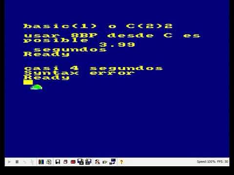 8BP desde C vs 8BP desde BASIC