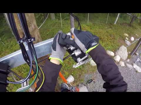 Installation of Ensto SZ pole fuse switch