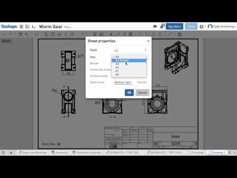What's New in Onshape (December 15th, 2016) Sheet Size Field