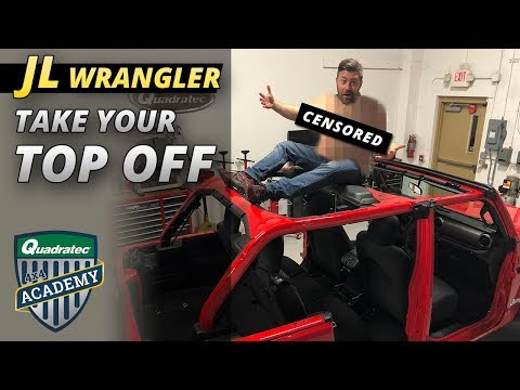 How To Remove the Hardtop from 2018 Jeep Wrangler JL