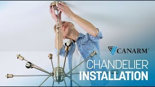 Video: How to Install a Chain Link Chandelier | Canarm