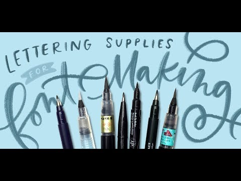 My Favorite Lettering Supplies for Font Making