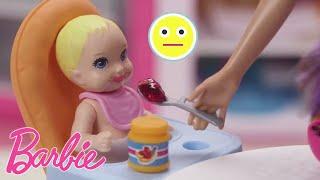 Barbie France 💖Repas de bébé 👶💖Poupées Barbie 💖Dessins animés de Barbie