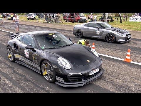 9ff Porsche 991 Turbo S F91 900 vs NISSAN GT-R vs CLS63 AMG