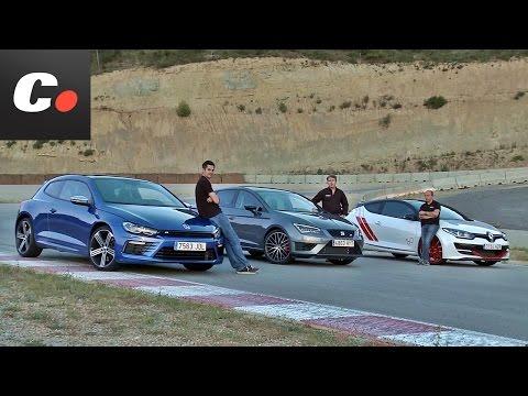 Seat León Cupra, Renault Mégane Trophy-R, VW Scirocco R | Prueba compactos deportivos | coches.net