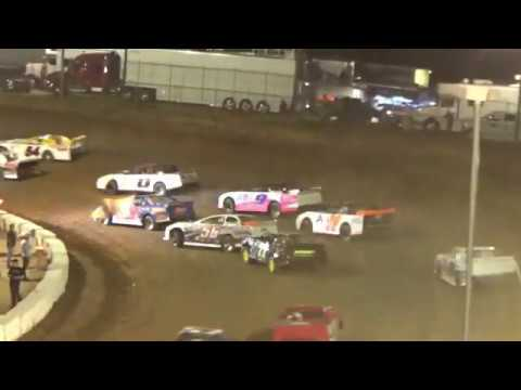 Cochran Motor Speedway- Winner 7H Wil Herrington. 22 cars started 12 finished - dirt track racing video image