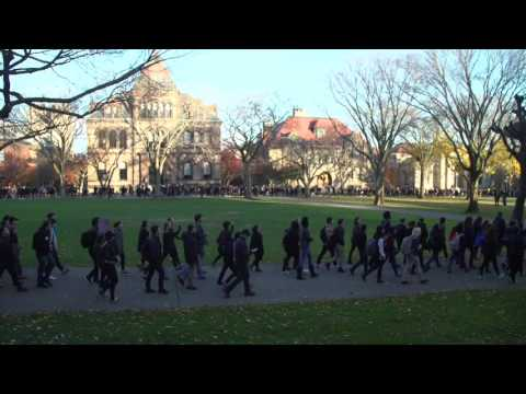 In 'Walkout' march, Brown University students voice social concerns