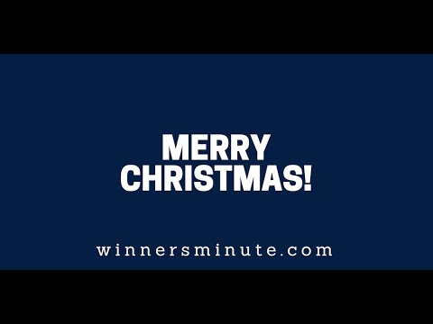Merry Christmas!  The Winner's Minute With Mac Hammond