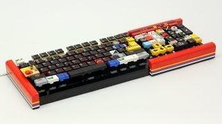 樂高打造出的完全可以用的鍵盤 -