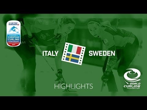 HIGHLIGHTS: Italy v Sweden - Women Semi-final - Le Gruyère AOP European Curling Championships 2017