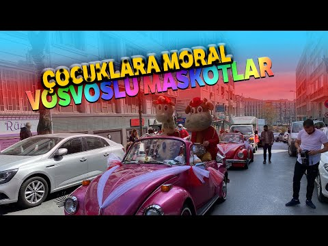 23 Nisan'da 'Vosvoslu Maskotlar' Çocuklara Moral Oldu