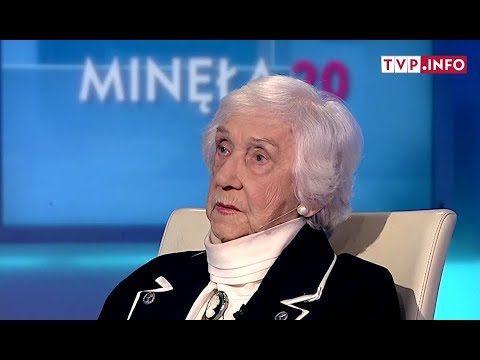 Lucyna Adamkiewicz a former prisoner of Auschwitz and Gusen II camps in an interview for TVP Info