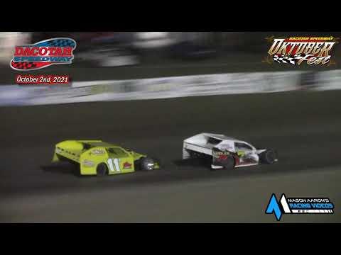 Dacotah Speedway IMCA Modified A-Main (Oktoberfest) (10/2/21) - dirt track racing video image