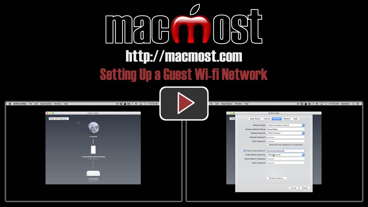 Setting up a guest wi fi network macmost fandeluxe Choice Image
