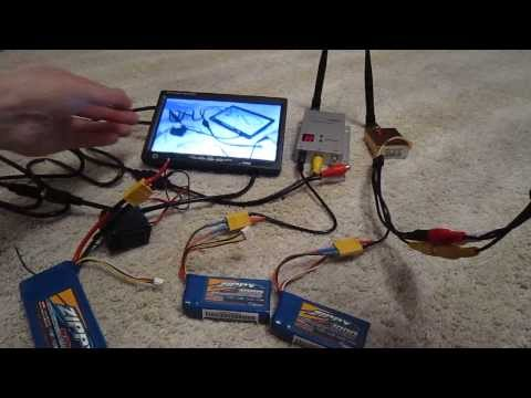 How setup FPV, monitor + 1.2GHz 800mW + batterys, RC FPV Kit - UCX2-frpuBe3e99K7lDQxT7Q