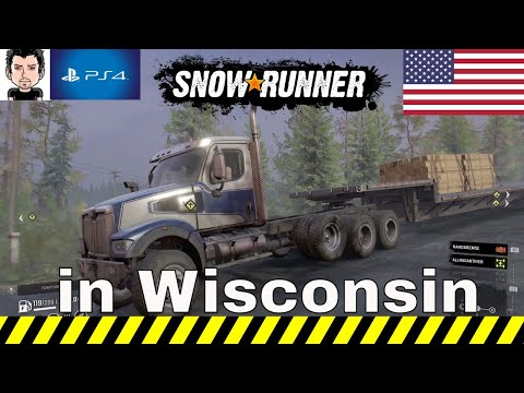 Snowrunner Seasons 3 PS4 Snowrunner#109 im Wisconsin USA #MZ80