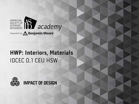 Course Preview: HWP: Interiors, Materials (2)