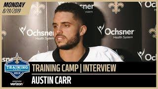 Austin Carr Breaksdown TD Catch vs Chargers at Saints Training Camp | New Orleans Saints