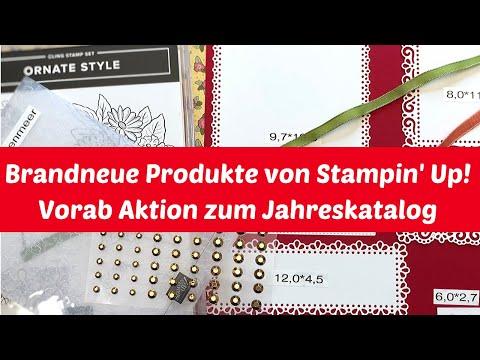 Vorab Aktion zum Jahreskatalog 20/21 von Stampin' Up!--brandneue Produkte--neue In-Colour