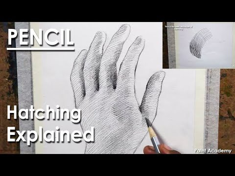Hand drawing by using Hatching technique | Hatching technique in details