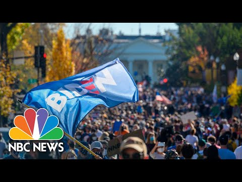 Watch: Celebrations In The Streets as Biden Projected President-Elect | NBC News