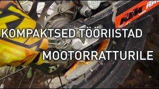Mootorratturile mõeldud kompaktsed tööriistad