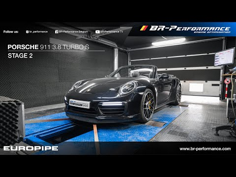Porsche 911 3.8 Turbo S / Stage 2 By BR-Performance / EUROPIPE exhaust
